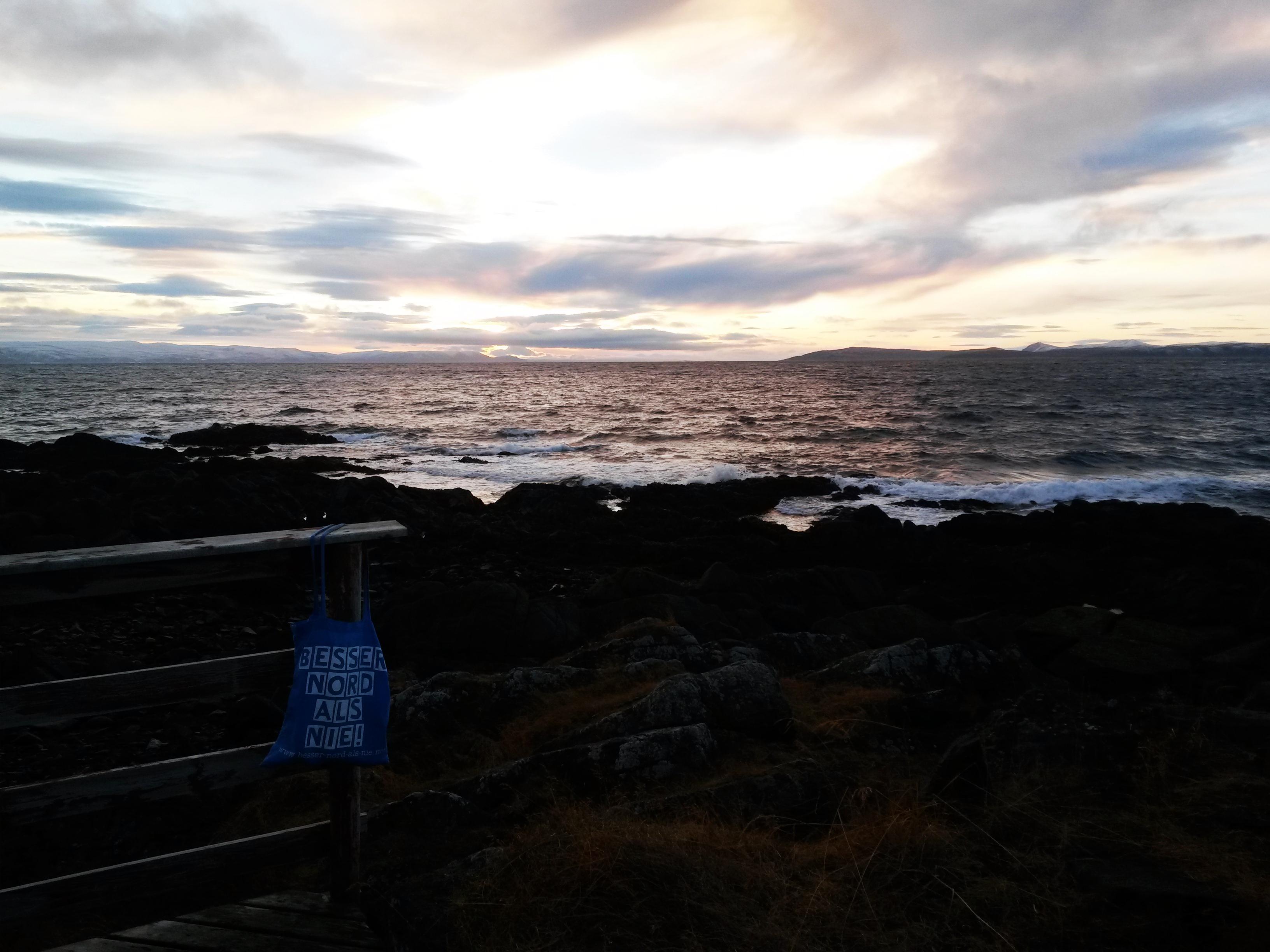 Sonnenuntergang auf der Magerøya.