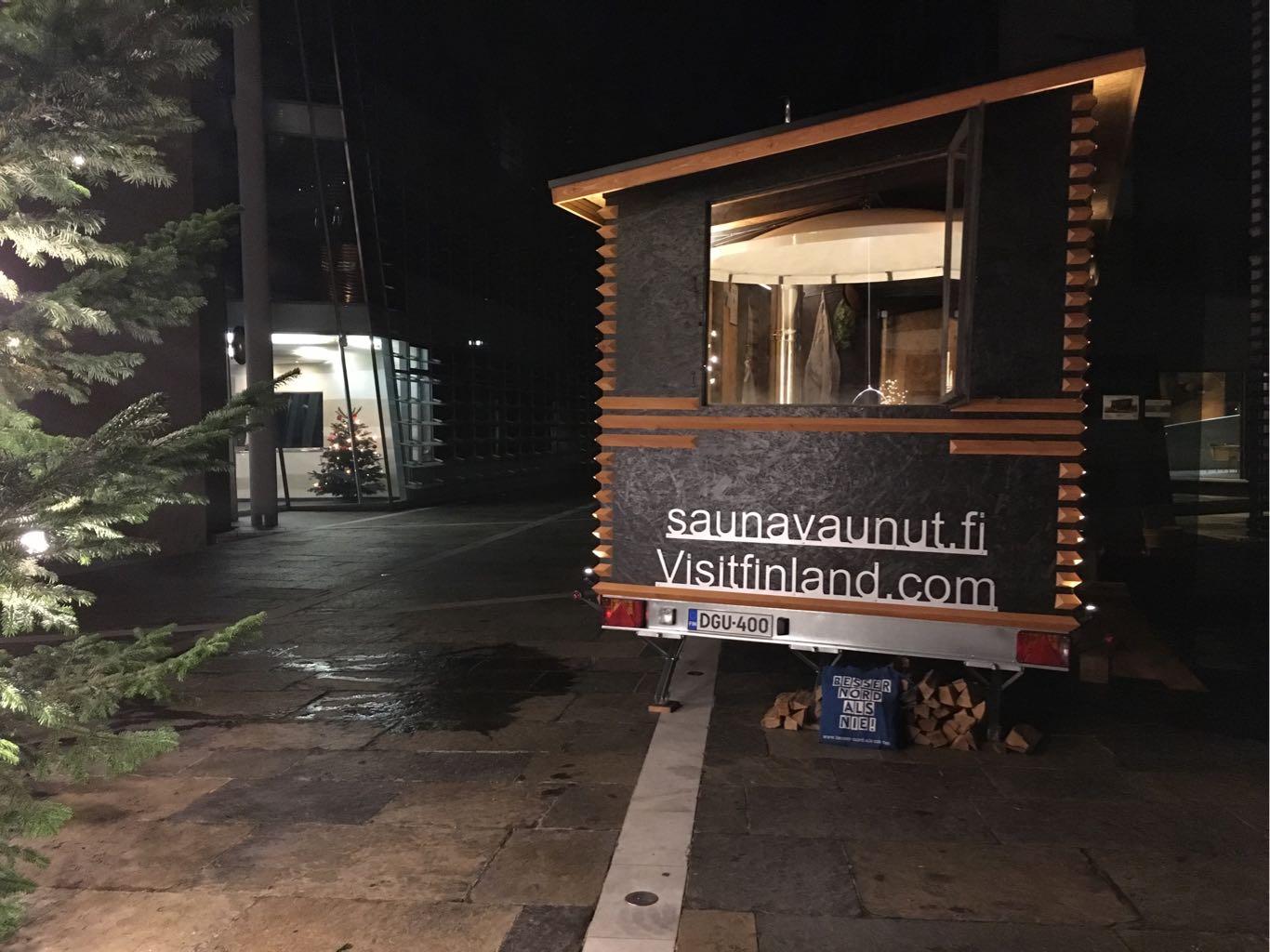 Fahrbare Sauna