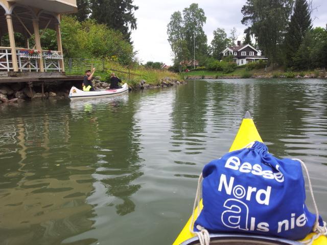 Kanufahren auf dem Götakanal