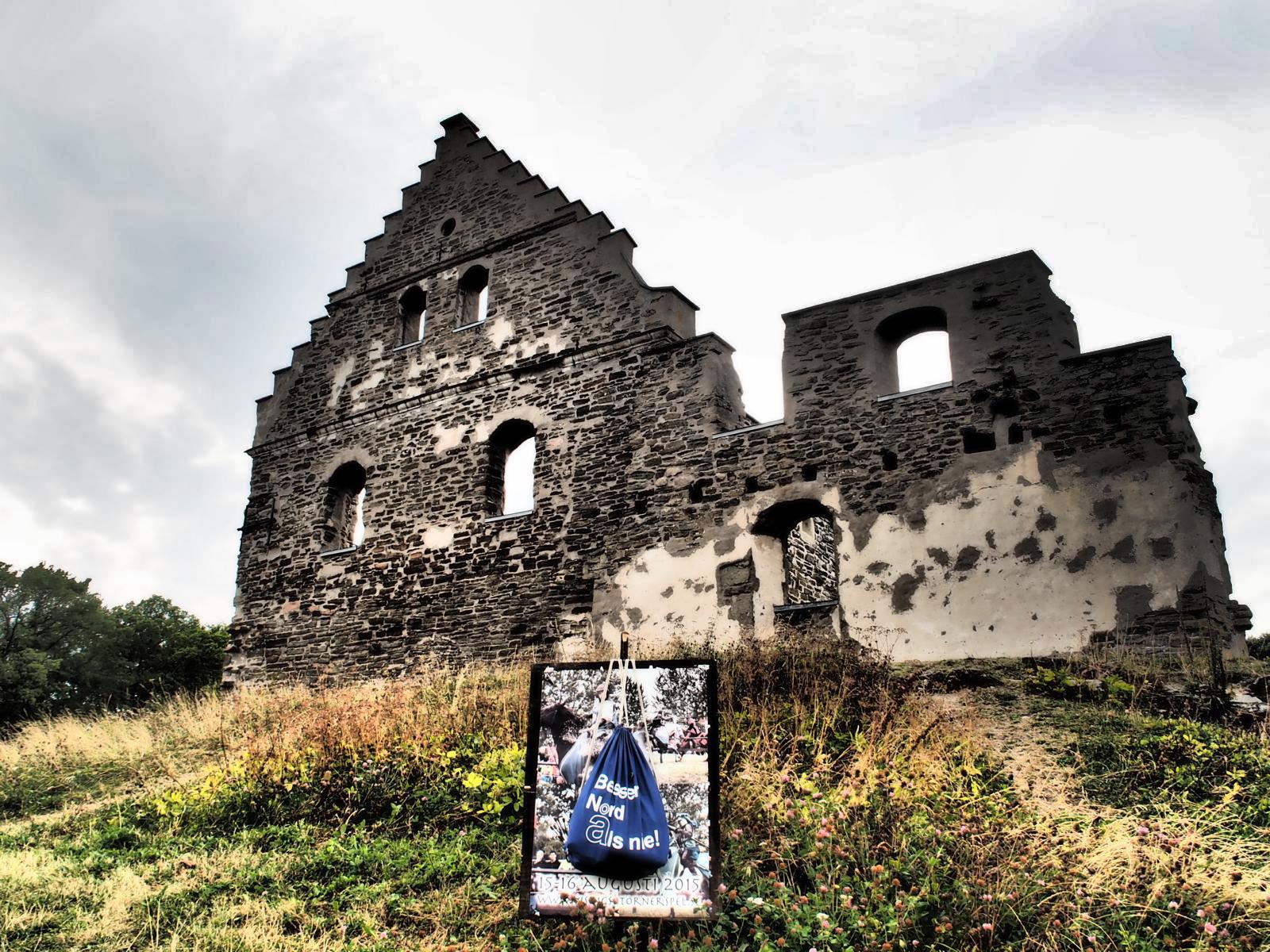 Näs Burg auf der Insel Visingsö im See Vättern