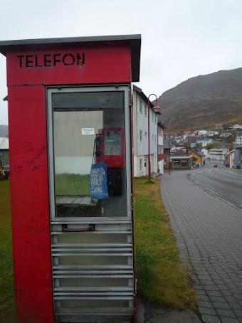Telefonzelle in Honningsvåg