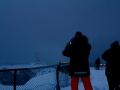 Das Wetter am Nordkap ist extrem wechselhaft und Touristen können sich glücklich schätzen, wenn der Blick auf den Globus nicht durch dicke Nebelschwaden verdeckt ist.