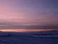 Tageslicht ist rar und kühle Blau- und Rosatöne prägen die Atmosphäre in den Wintermonaten.