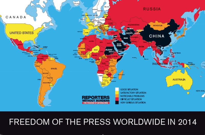 Pressefreiheit Karte