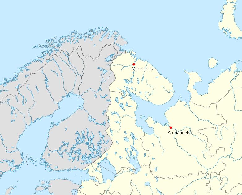 Murmansk und Archangelsk klein