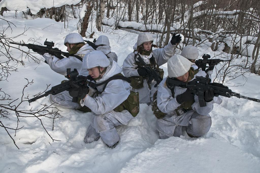 Norwegische Soldatinnen, Foto: Adrian Lombardo