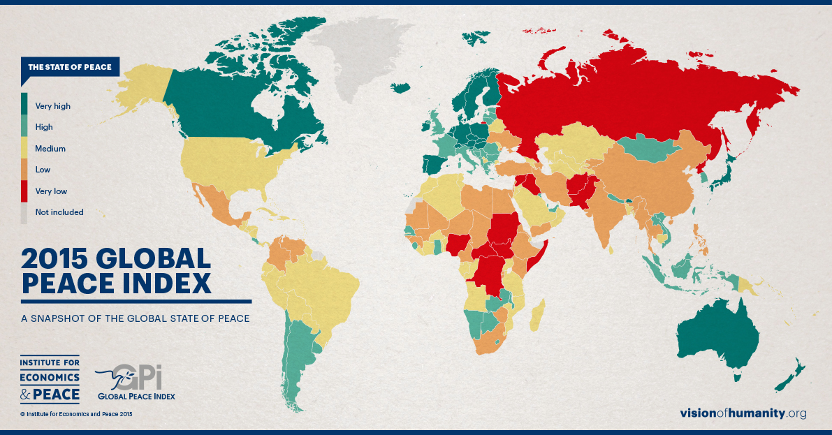 Global Peace Index Results Map