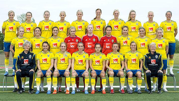 Svenskt Damlandslaget Foto: svenskfotboll.se