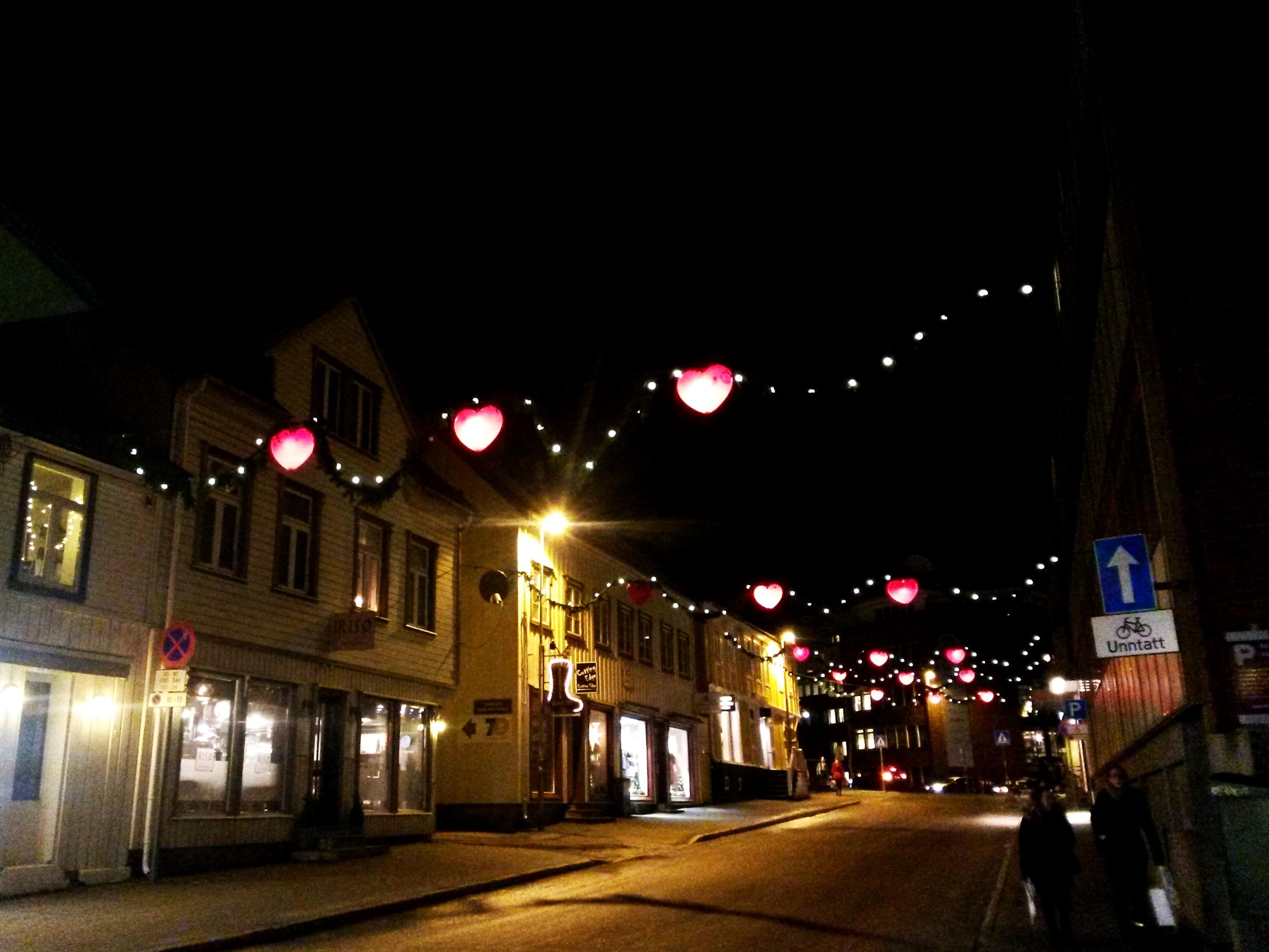 Weihnachtsstraße in Tromsø