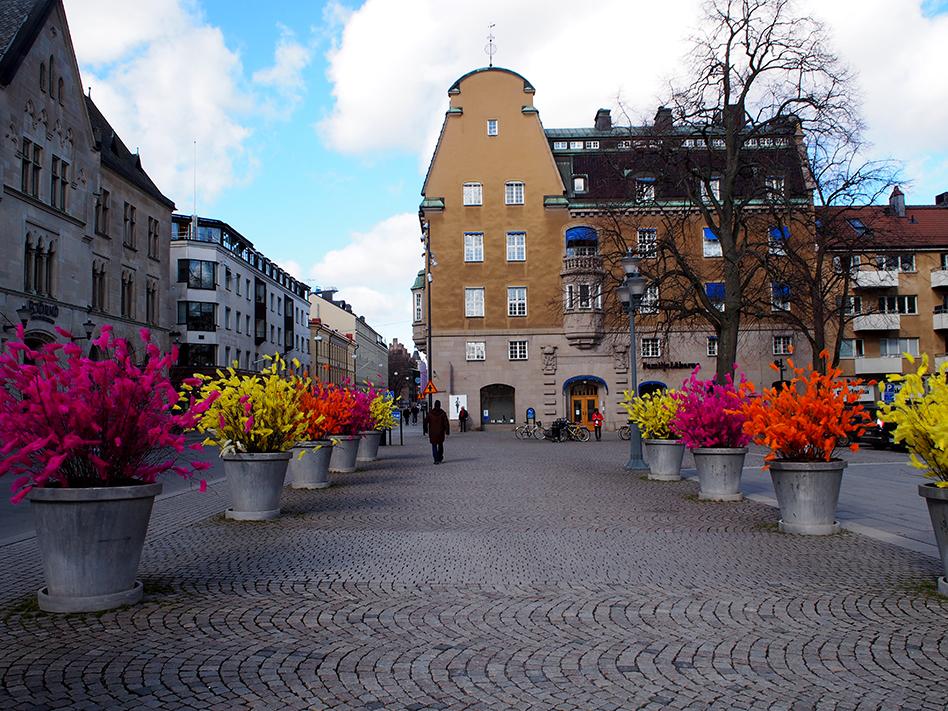 Osterzweige in Linköping. Foto: Besser Nord als nie!